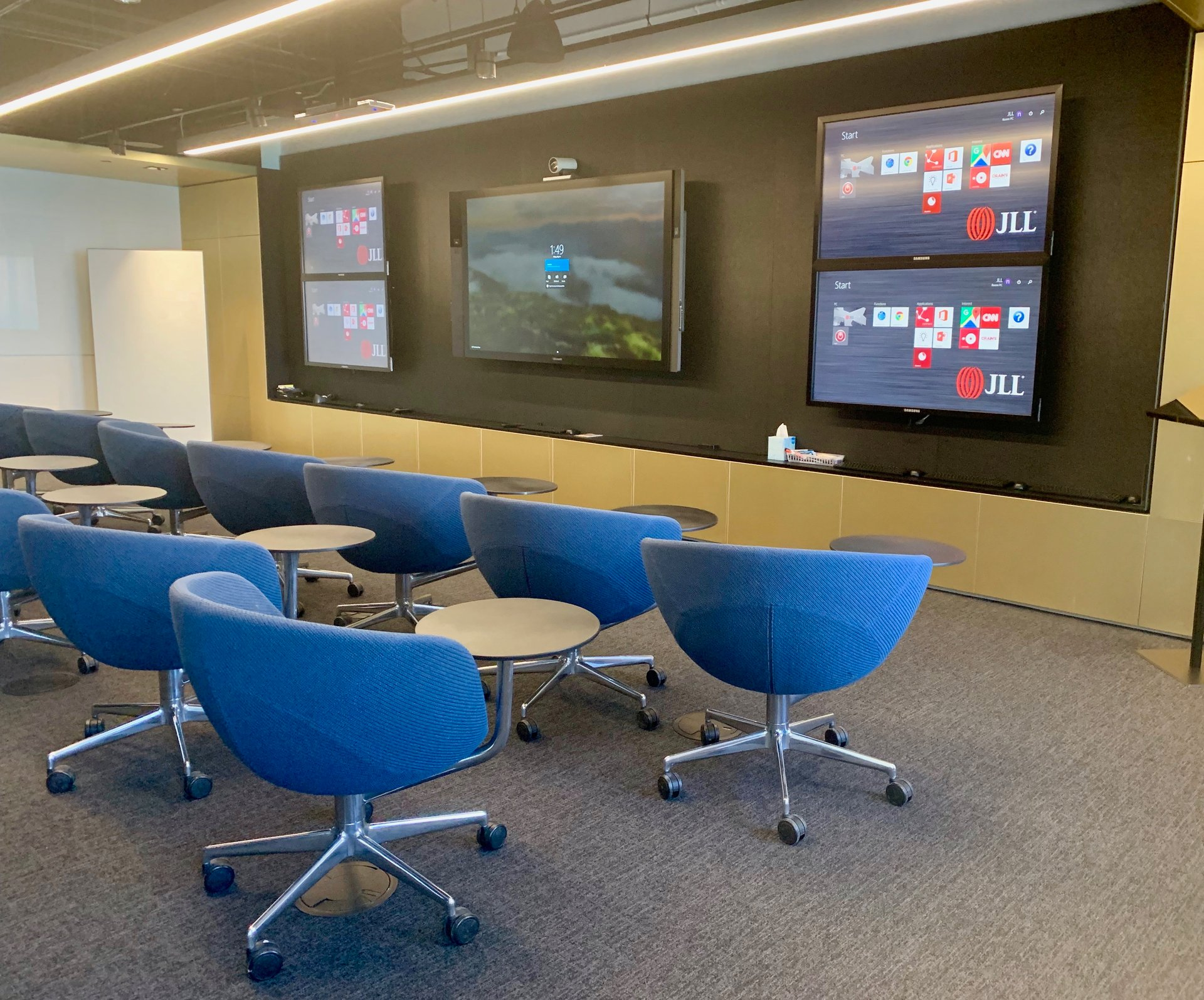 Workplace design that centers around technology makes the new generation of workers feel right at home. (Image credit: JLL).